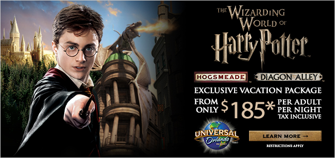 Universal Studios Orlando Harry Potter Vacation Package