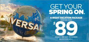Universal Studios 2017 vacation Pacakge Promo