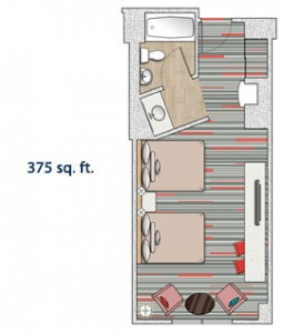 Hard Rock Hotel Standard Room Layout