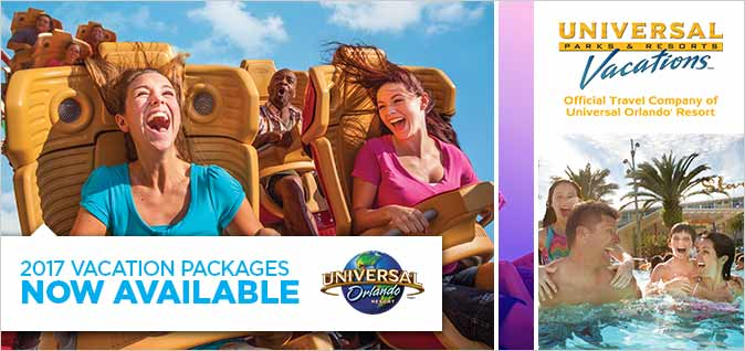 2017 Universal studios Vacation Packages