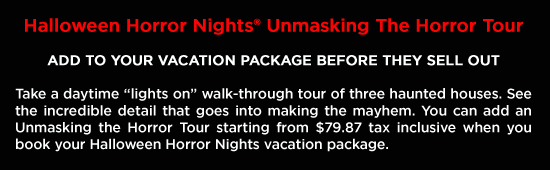 Universal Halloween Vacation Package