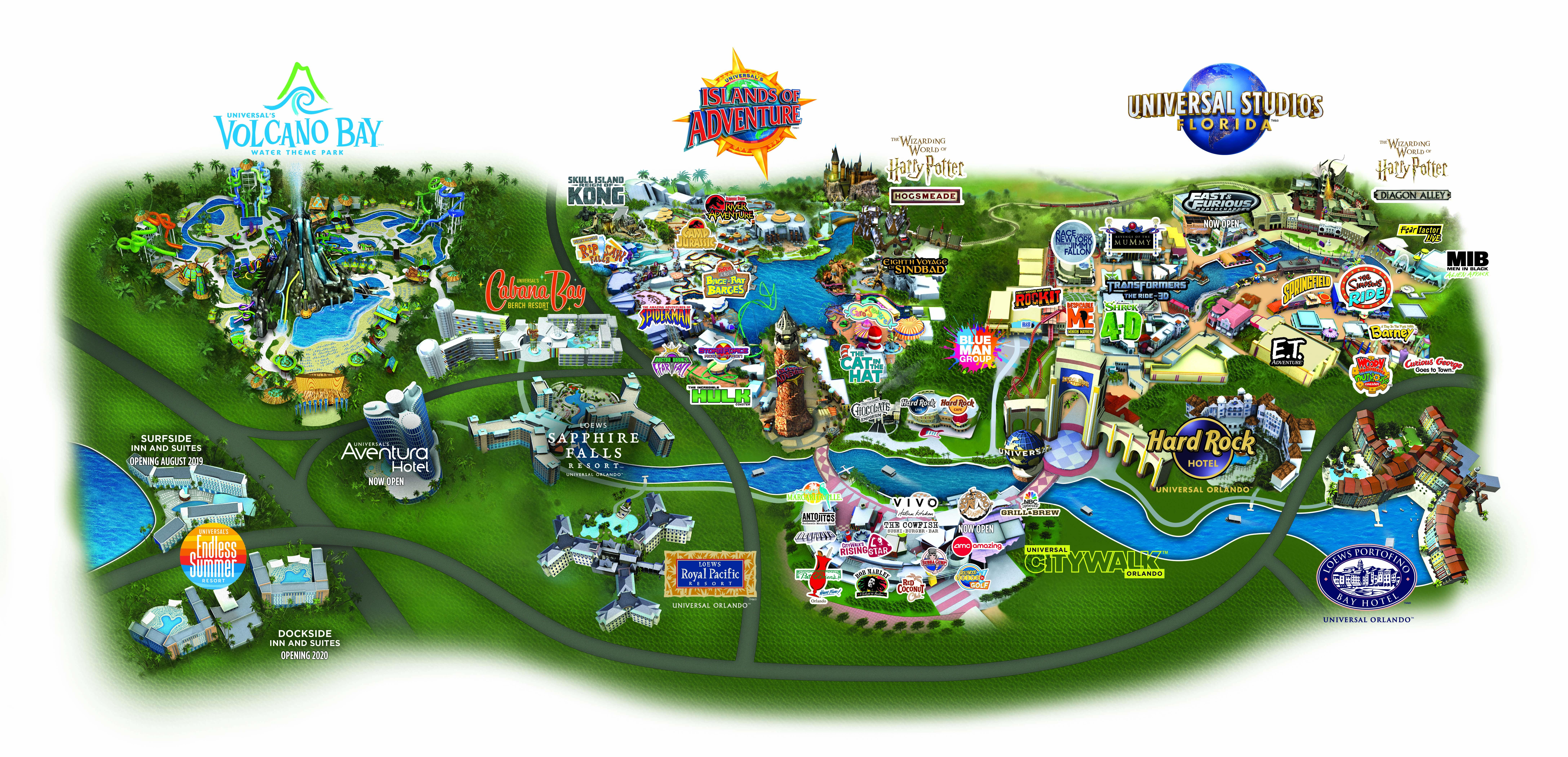 Universal Orlando Resort Park Maps  Universal Studios