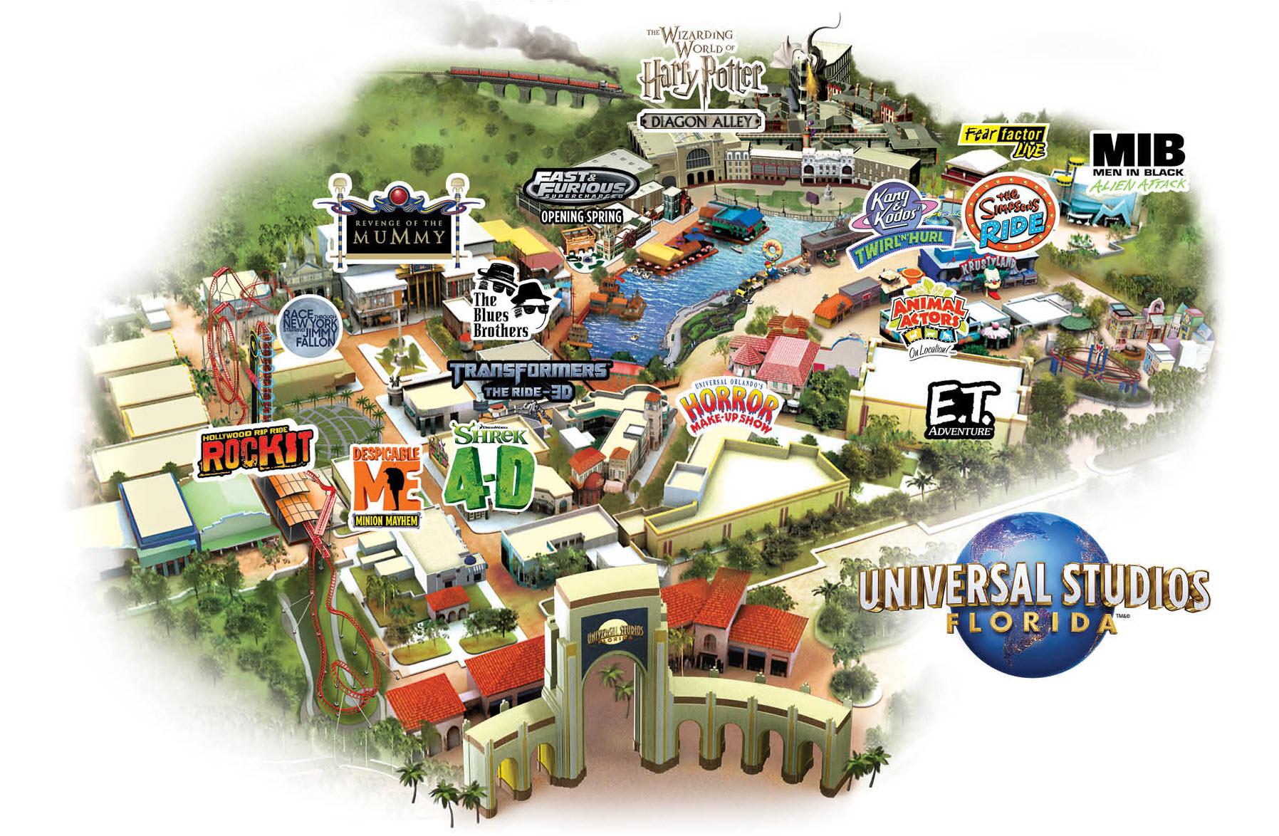 Universal Studios Florida Park Map