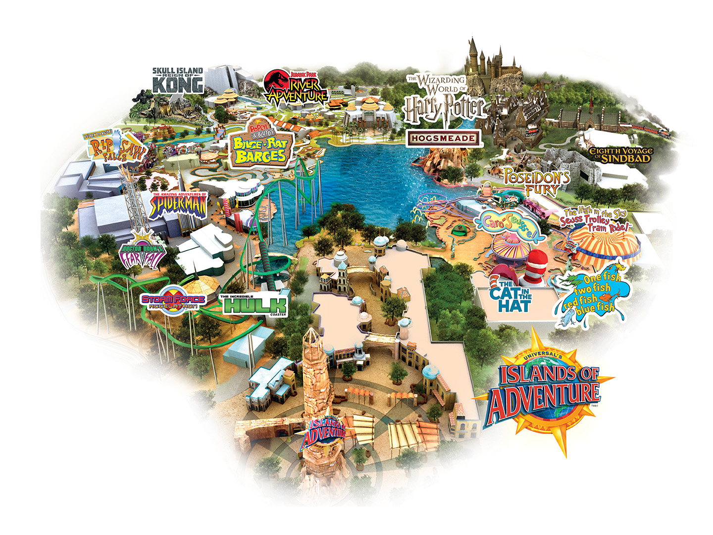 Universal Islands of Adventure park Map