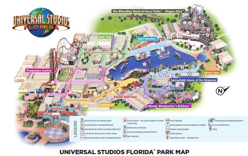 Universal Studio Orlando Map Universal Orlando Resort Park Maps   Universal Studios Orlando  Universal Studio Orlando Map