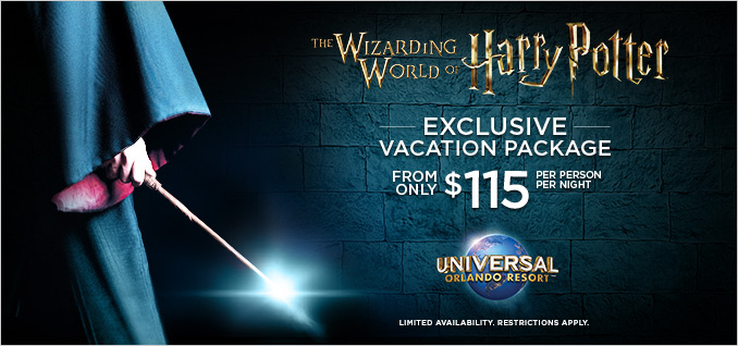 harry potter orlando vacation package