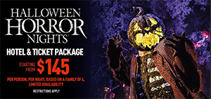 Halloween Horror Nights 2019 Vacation Package