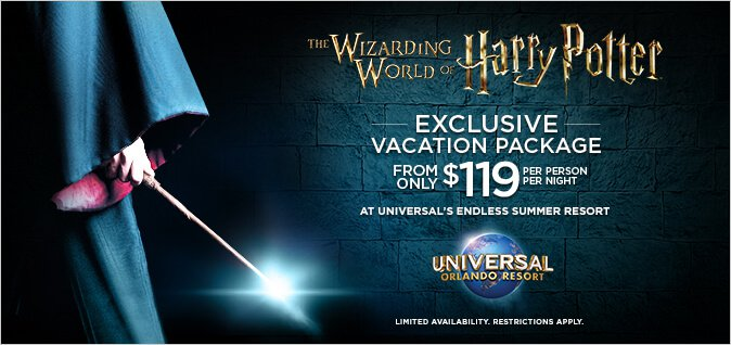 Harry Potter Exclusive Vacation Package